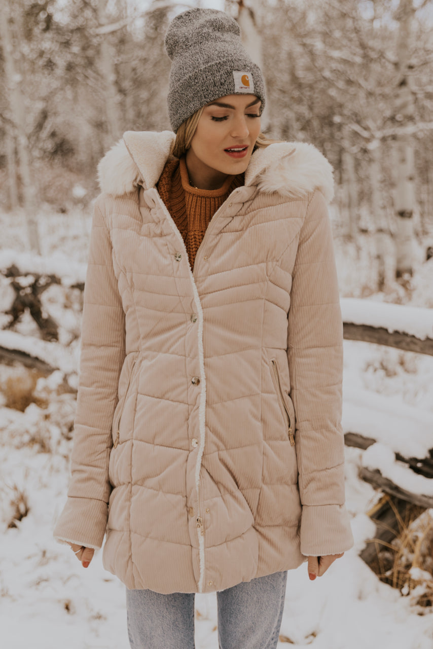 Trendy Hooded Puffy Coat | ROOLEE