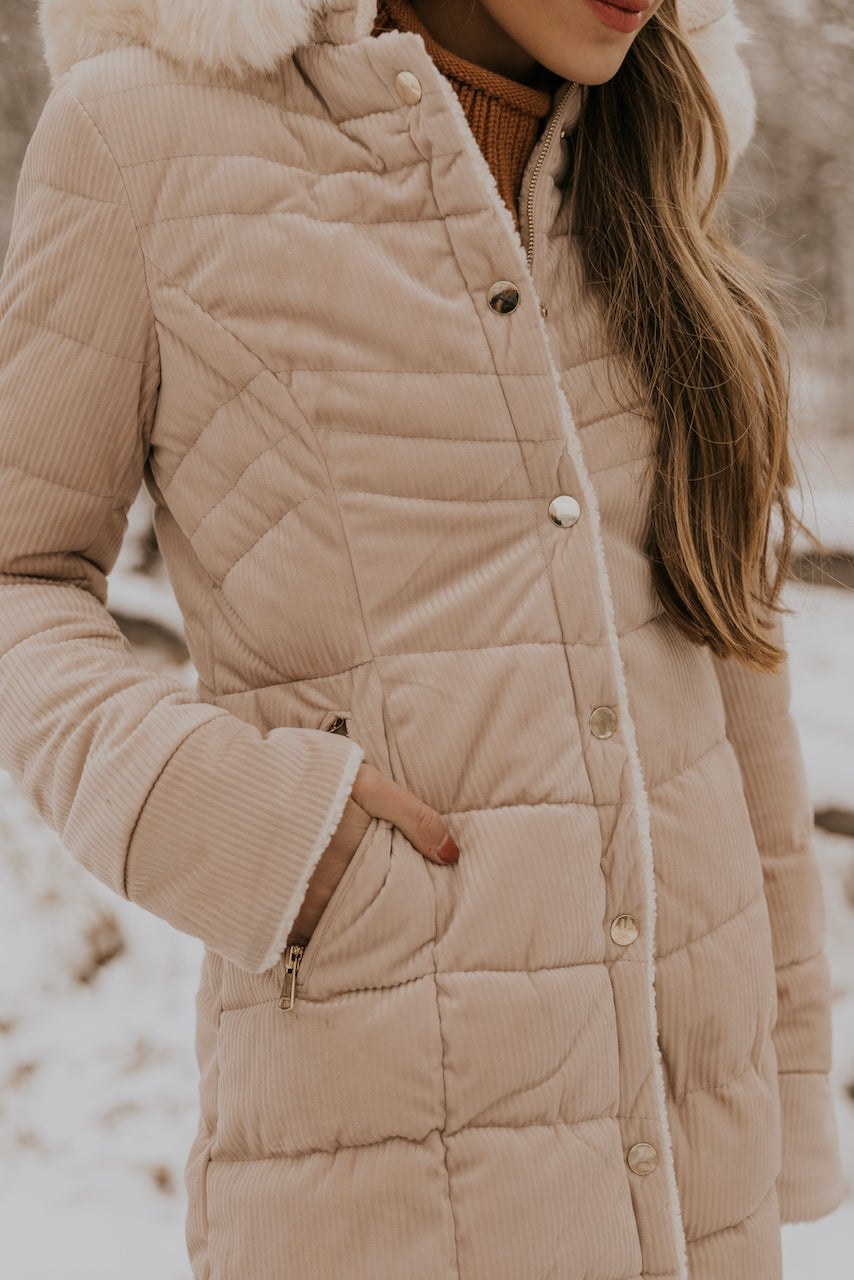 Long Length Cream Coat | ROOLEE
