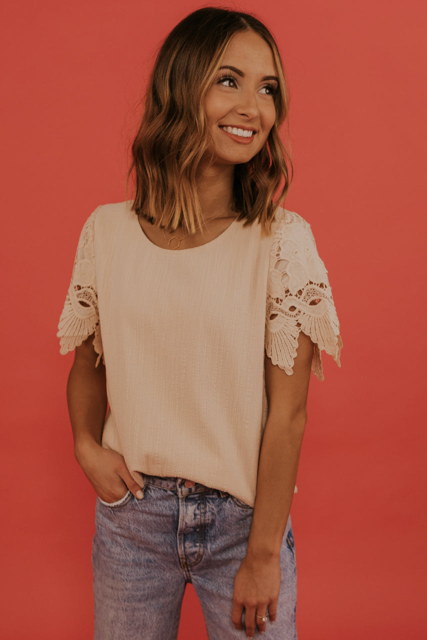 San Diego Lace Sleeve Top