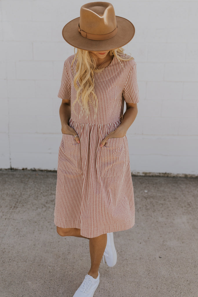 Striped Babydoll Dress | ROOLEE