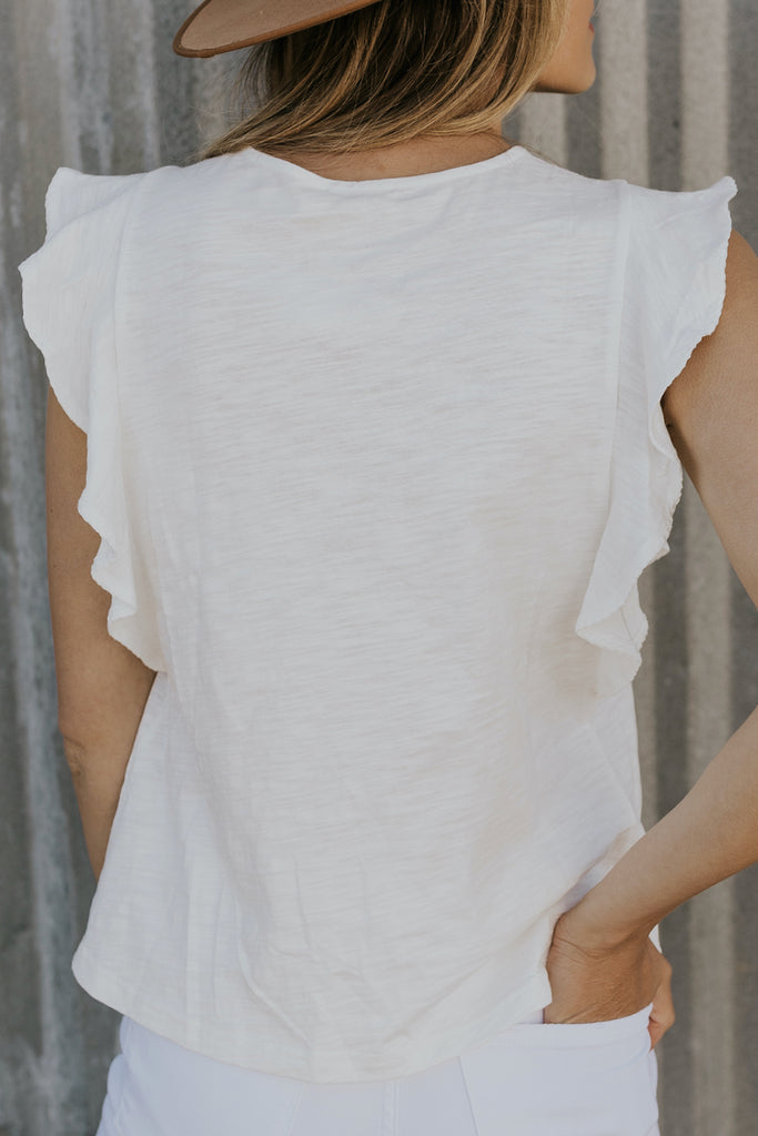 White eyelet detail summer top | ROOLEE