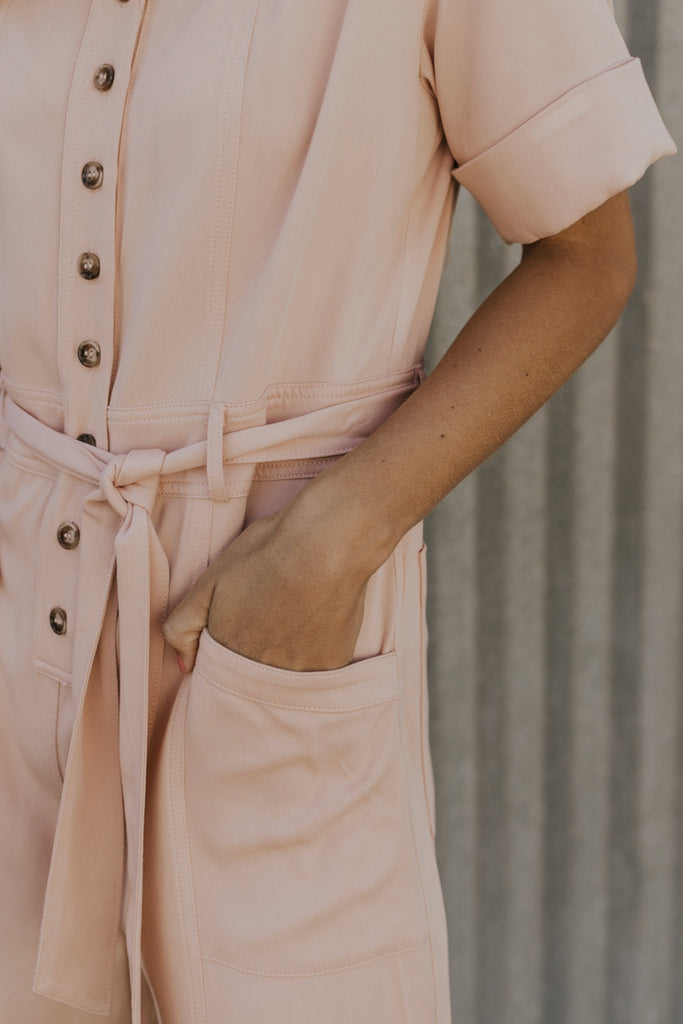Cute Blush Jumpsuit | ROOLEE