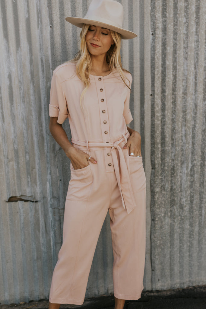 Blush Nursing Friendly Jumpsuit | ROOLEE