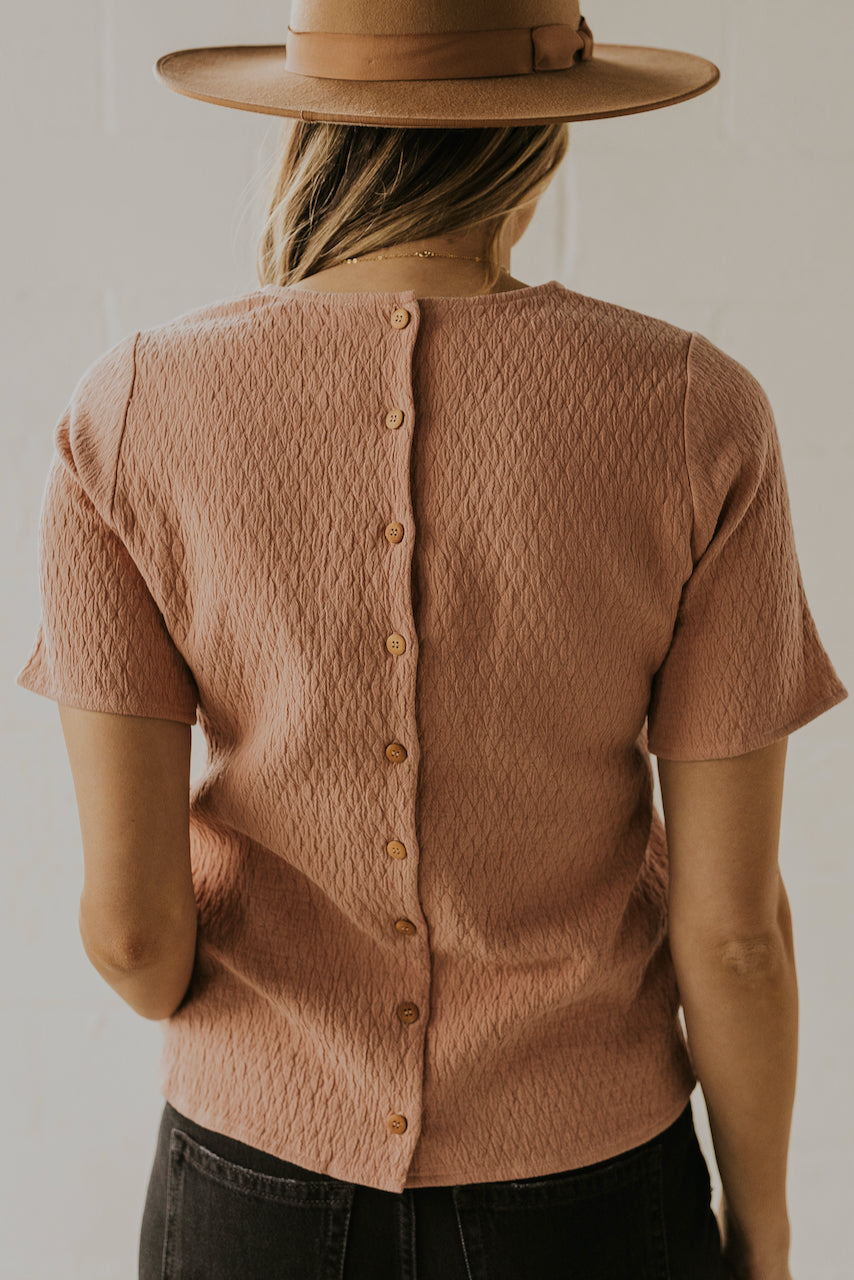 Buttoned detail women's spring blouses for 2020 | ROOLEE