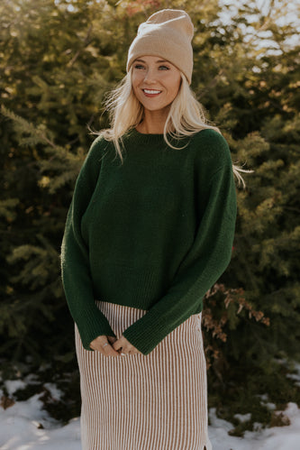 Solid Green Sweater | ROOLEE