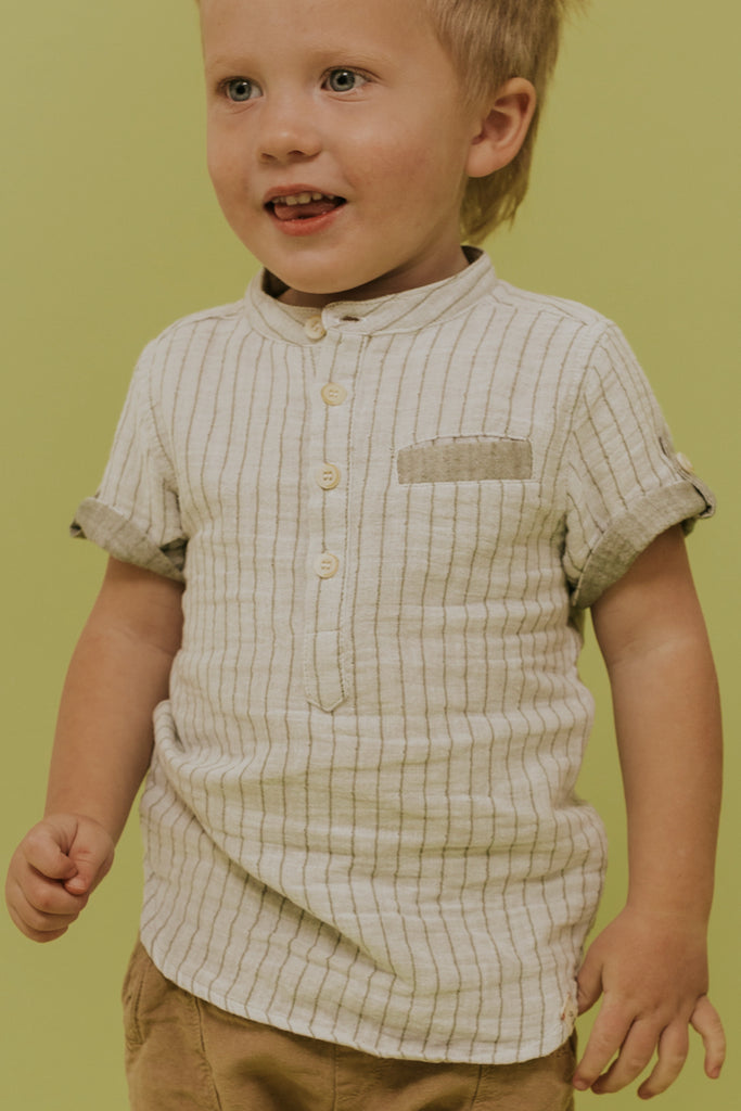 Boys Short Sleeve Button Up | ROOLEE