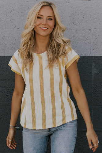Burley Textured Stripe Top