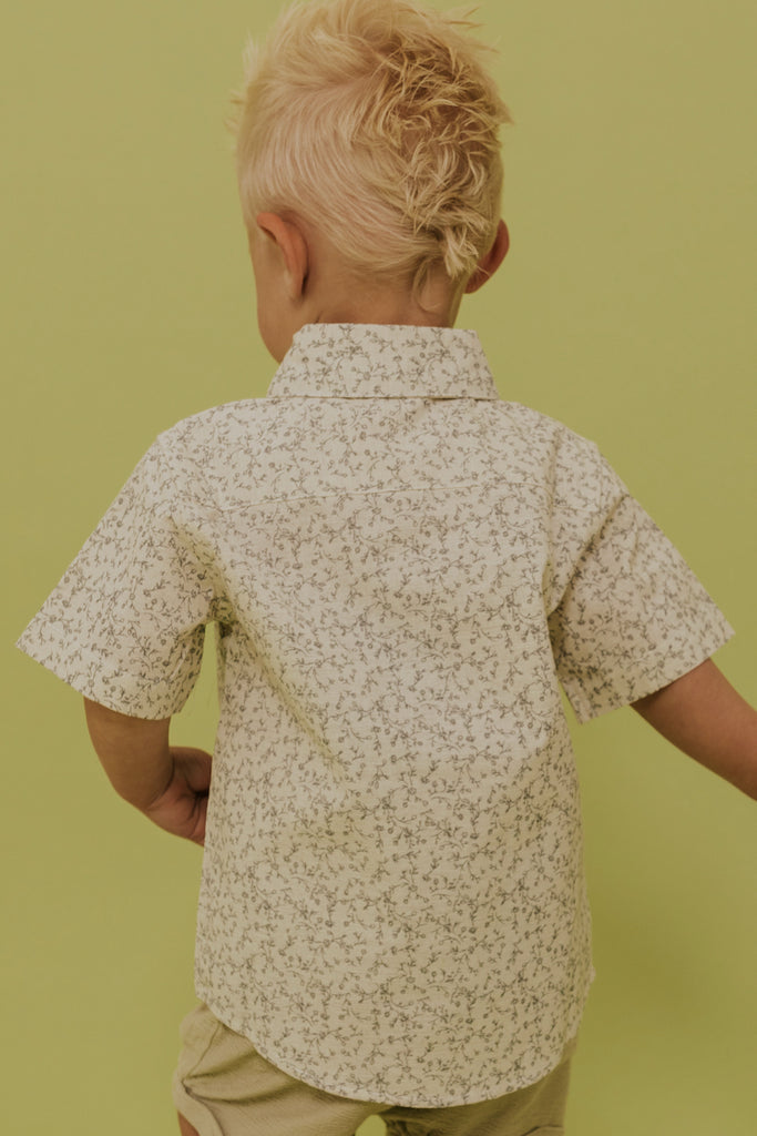 boys collared flower shirt | ROOLEE