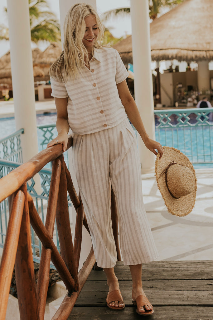 Striped Spring Top and Bottom Set | ROOLEE