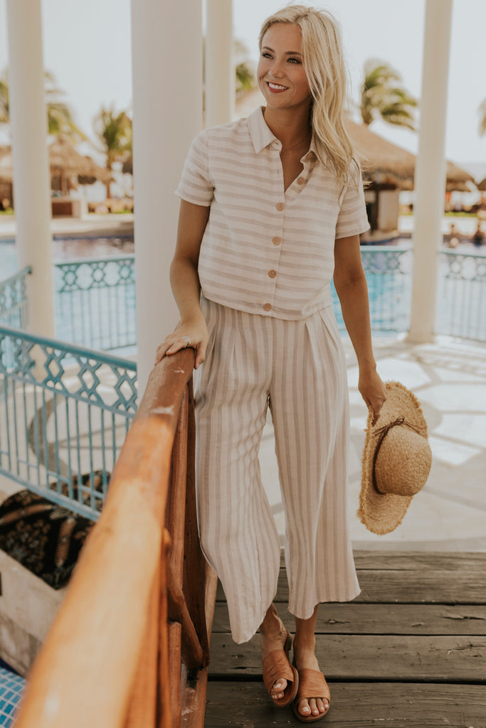 Striped Linen Pants | ROOLEE