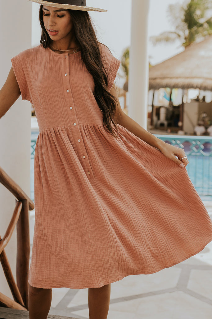 What Makes You Beautiful Button Dress