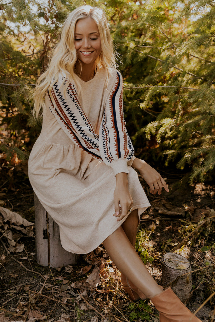 Embroidered Long Sleeve Dresses for Winter | ROOLEE