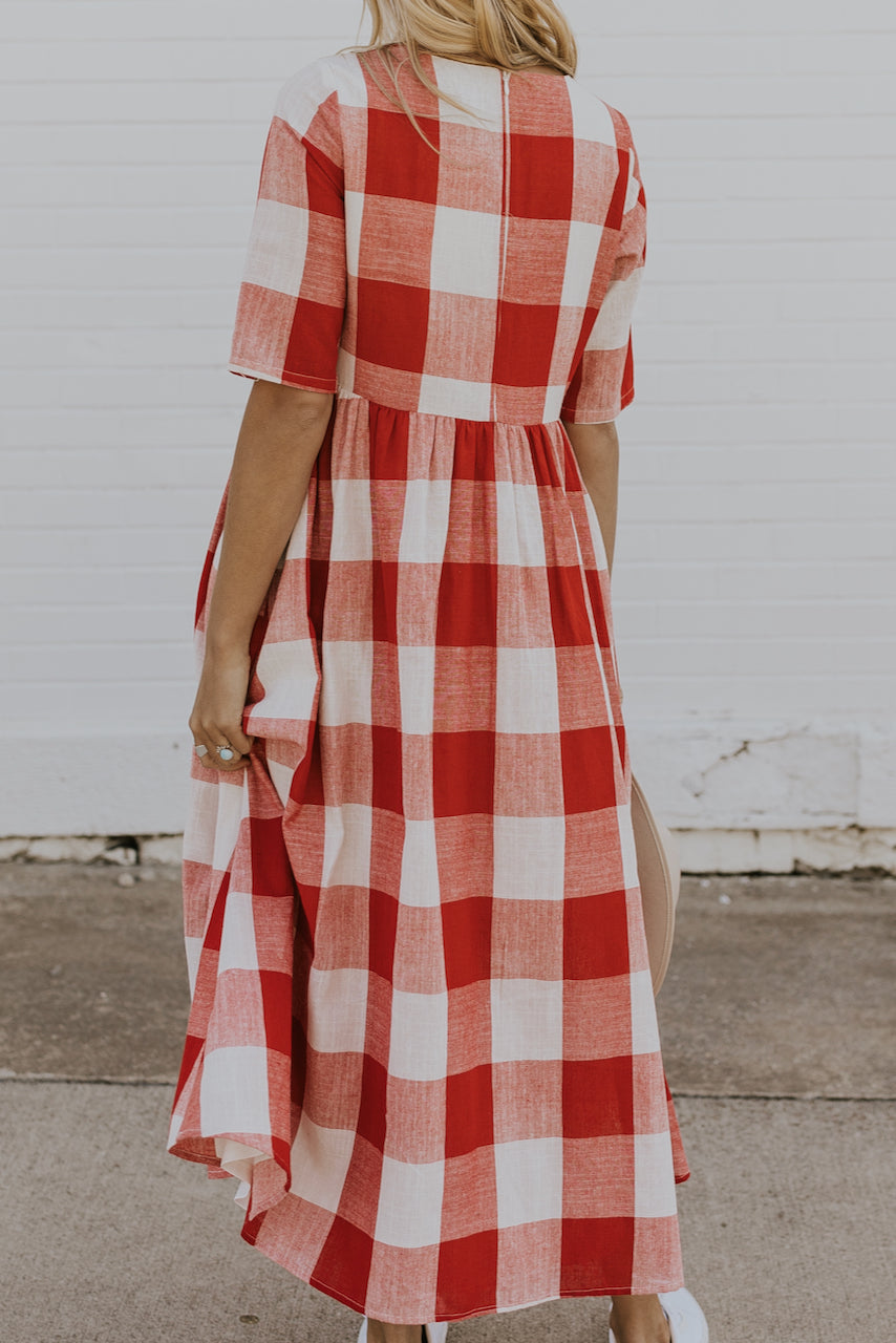 Maxi Plaid dress | ROOLEE