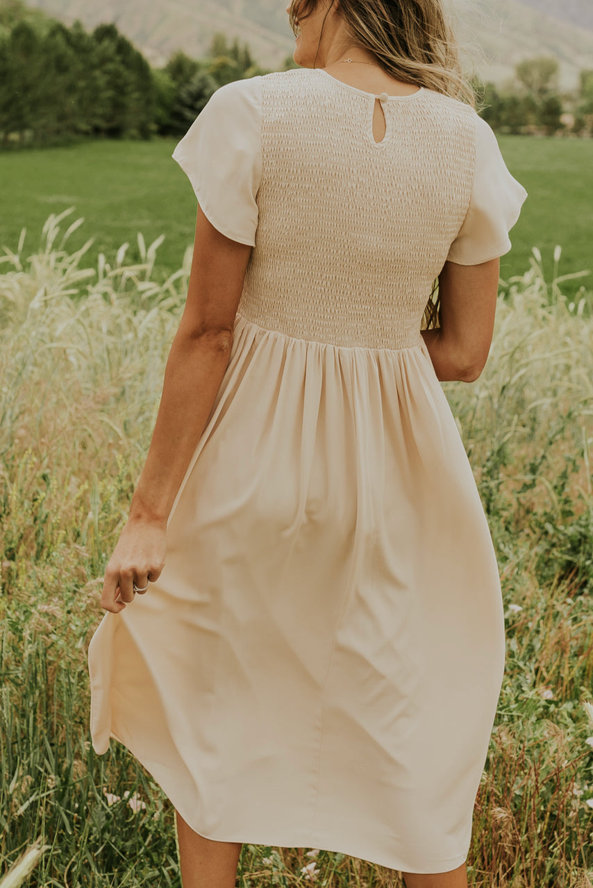 Soft cream bridesmaid dress | ROOLEE