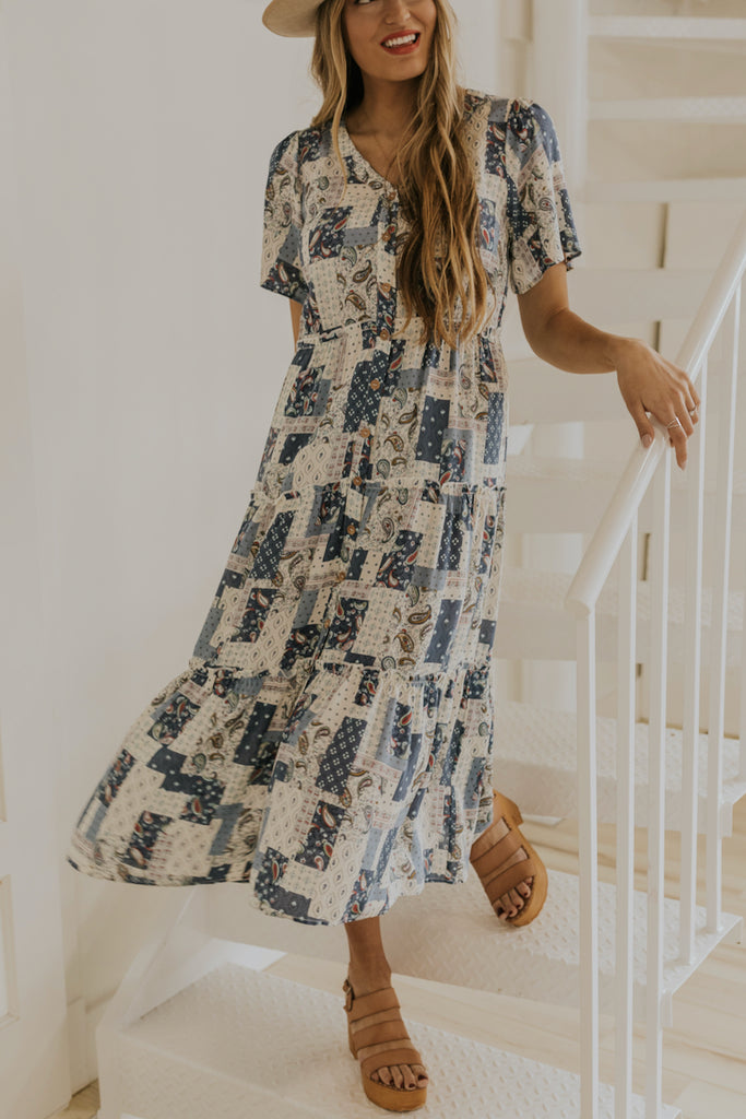 V neck button down dresses for summer | ROOLEE