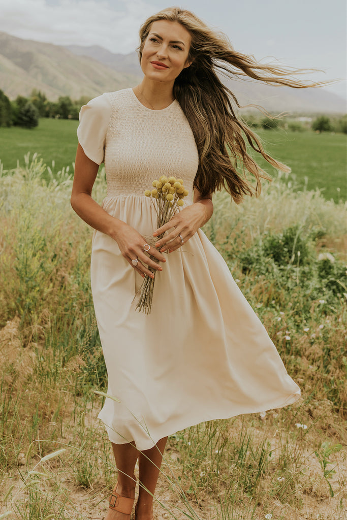 Soft neutral dresses | ROOLEE