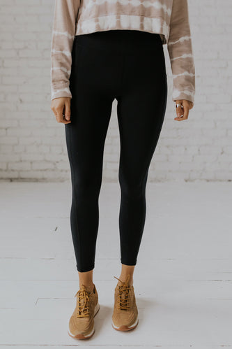 Black casual leggings for women | ROOLEE
