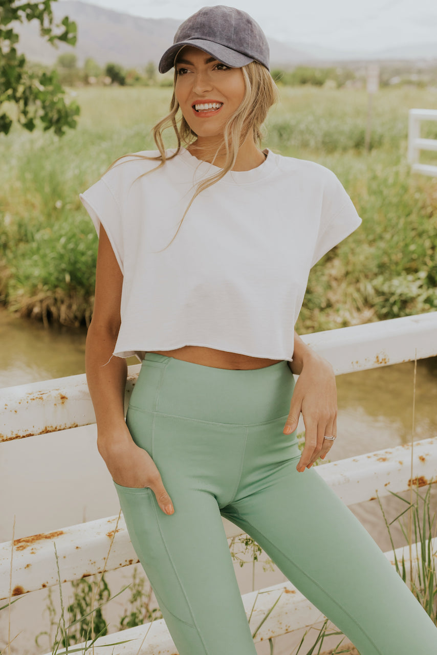 Raw Hem Crop Top | ROOLEE