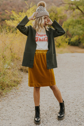 Cute velvet skirts for fall | ROOLEE