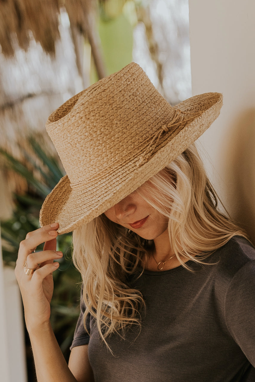 Short Brim Straw Hat | ROOLEE