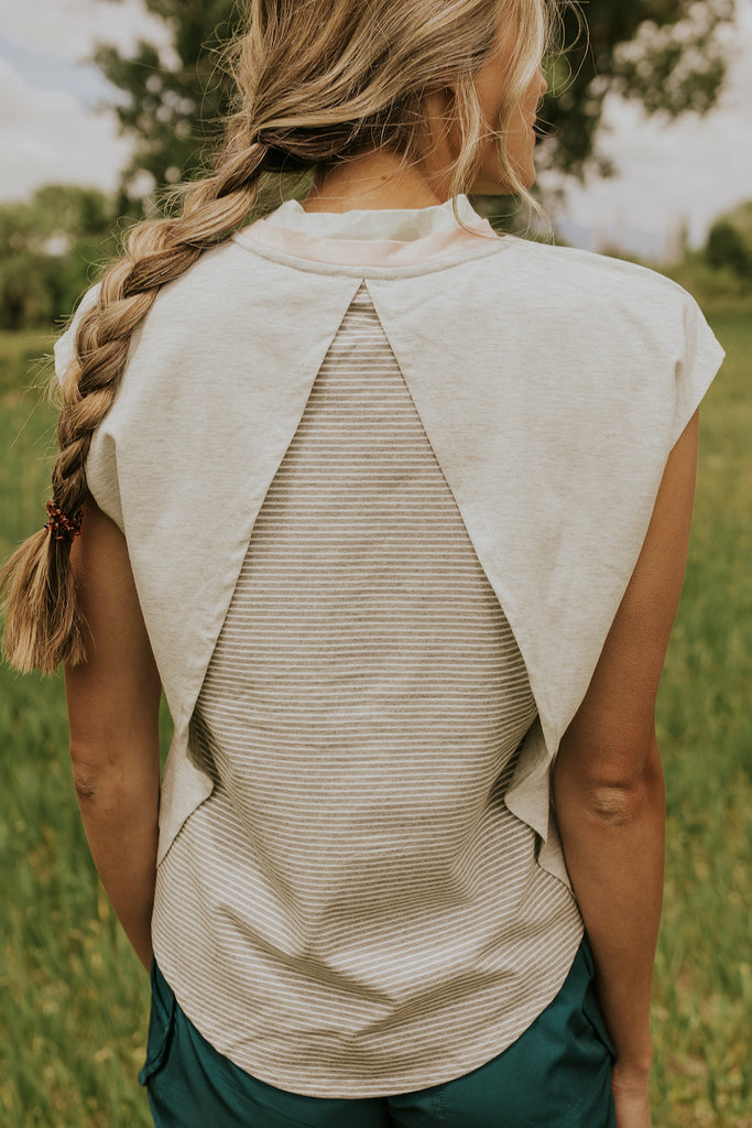 Grey Running Top | ROOLEE