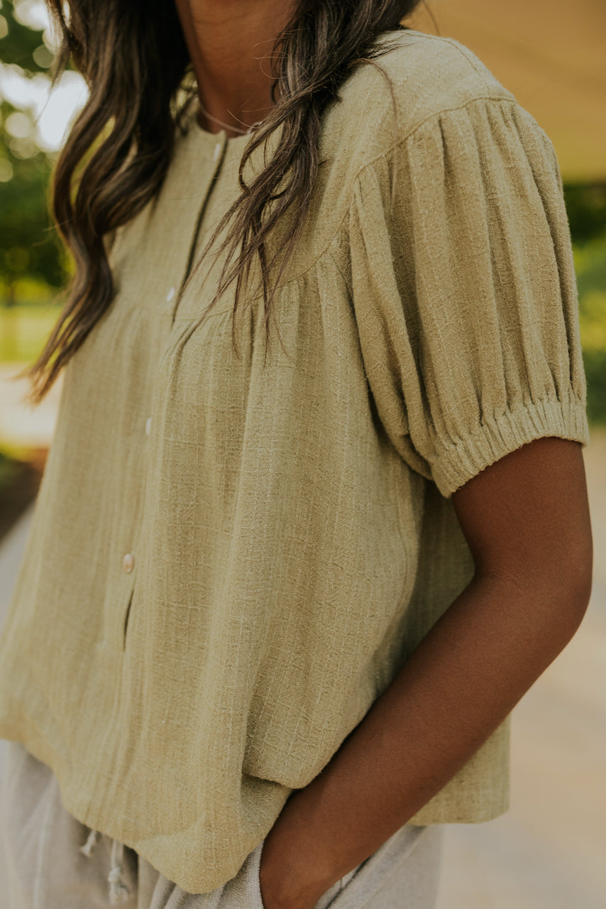 Way Out Button Blouse