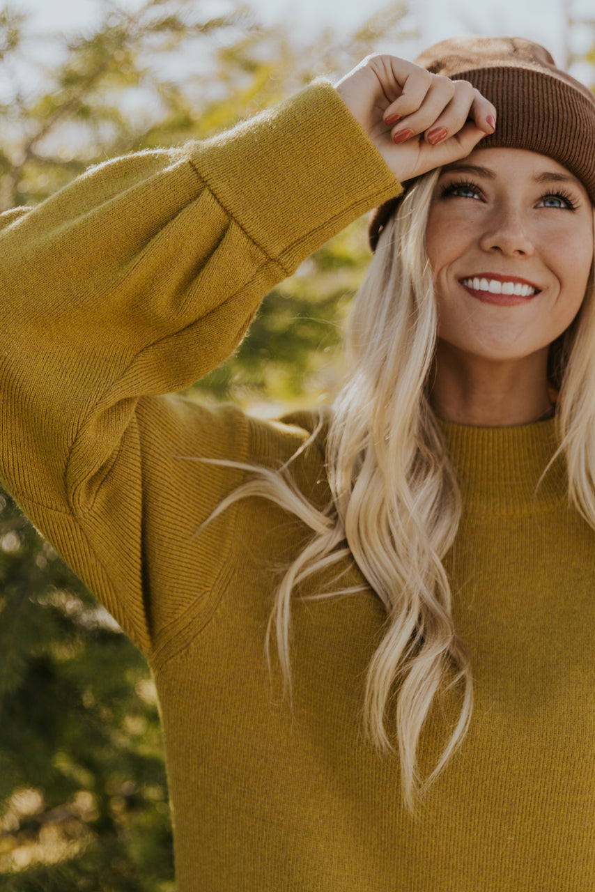 Green Sweater Dress | ROOLEE