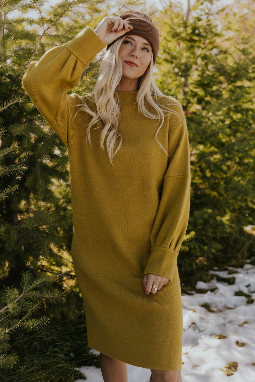 Midi Sweater Dress | ROOLEE