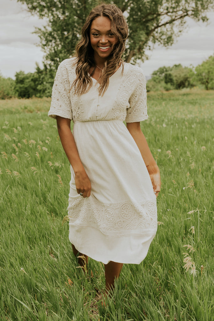 Modest ivory bridesmaid dresses | ROOLEE