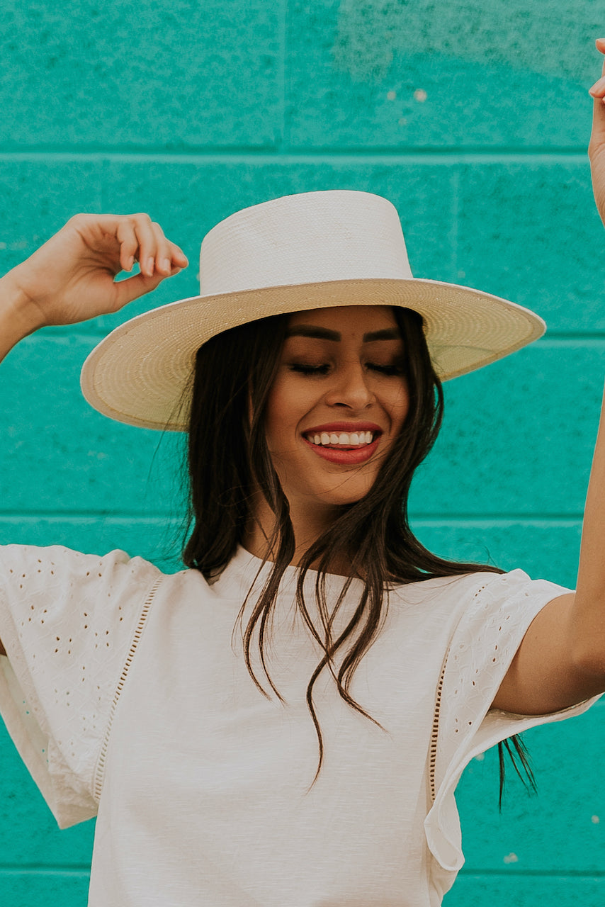 Straw Hat in Ivory | ROOLEE