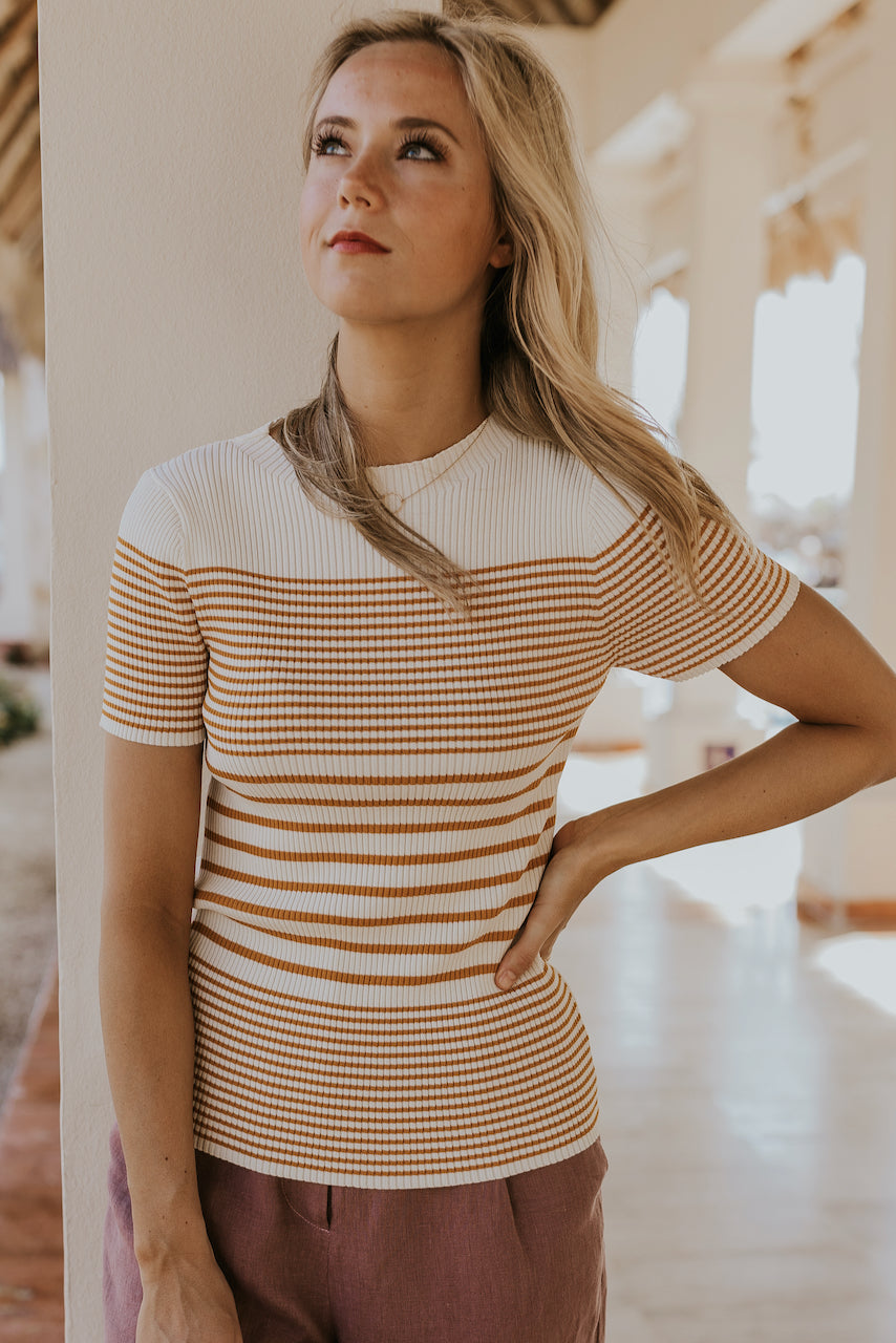 Stripe tees for women | ROOLEE