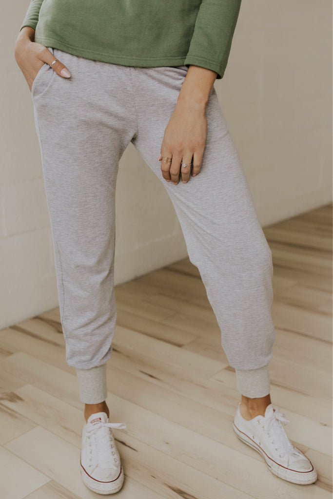 Elastic cuff maternity style sweat suit | ROOLEE