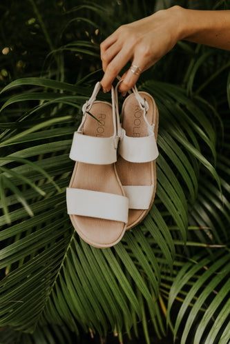 White two strap sandal | ROOLEE