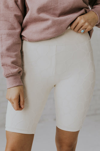 Textured Biker Shorts | ROOLEE