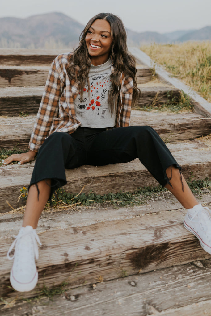 Casual fall print tops | ROOLEE