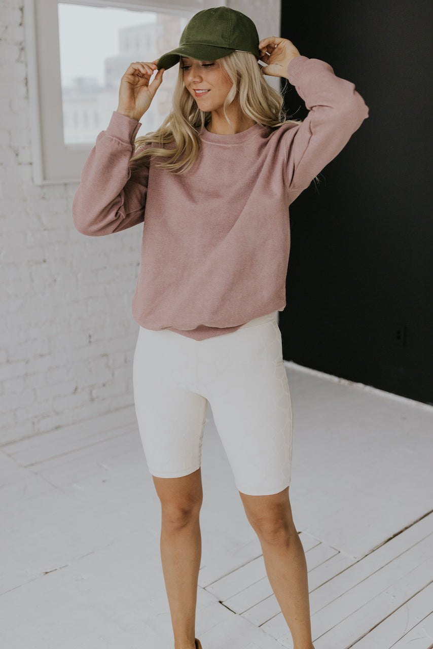 Mauve long sleeve oversized pullover | ROOLEE