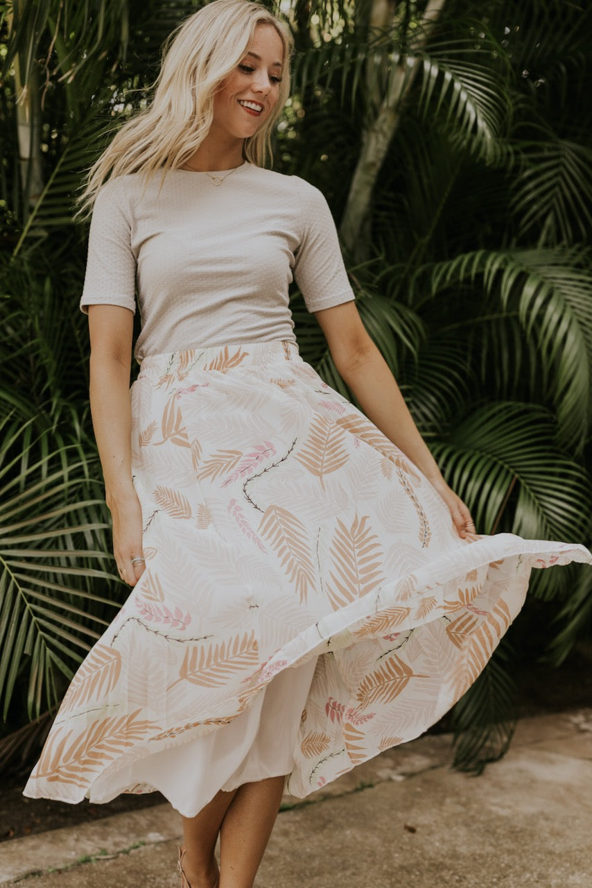 Warmer Days Floral Skirt