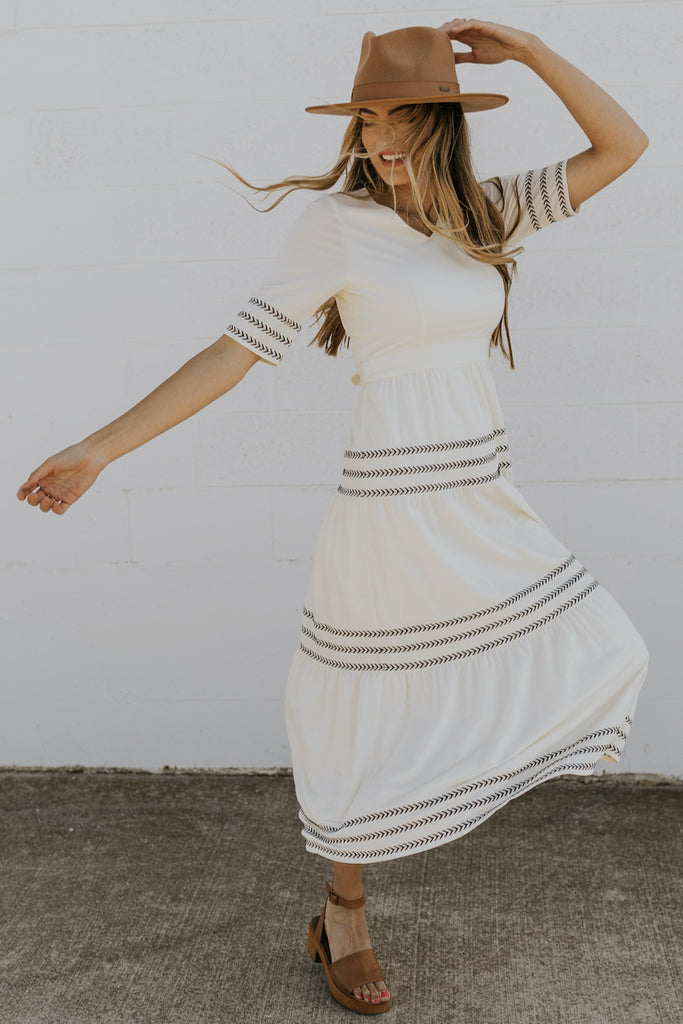 White ruffle womens summer dresses | ROOLEE