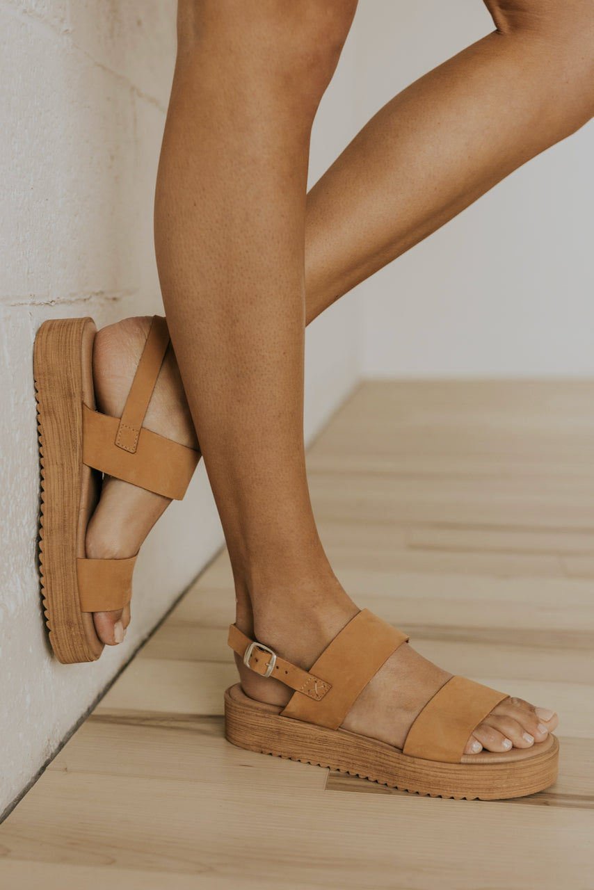 Light tan strap sandals | ROOLEE