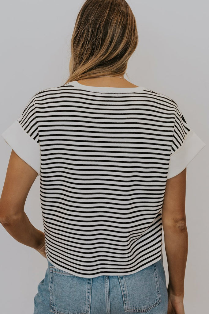 Cute Stripe Tees for Modest Women | ROOLEE