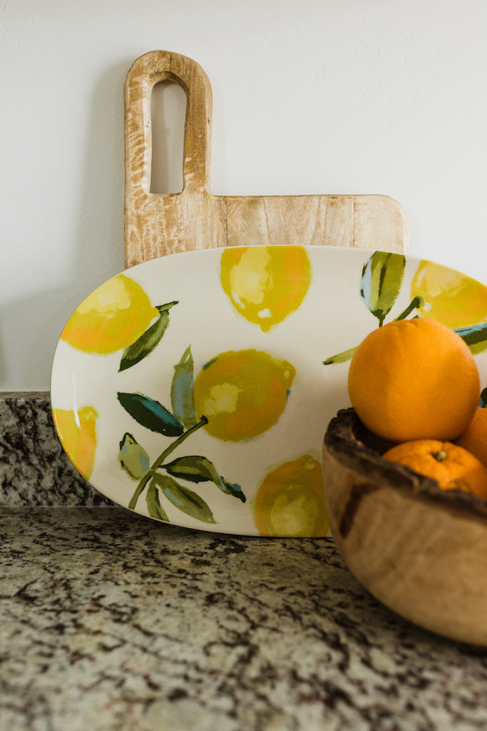 When Life Gives You Lemons Stoneware Platter