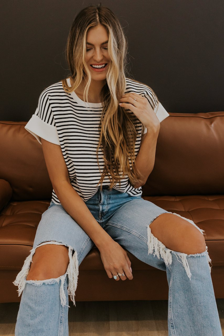 Cute Stripe Tees for Women | ROOLEE