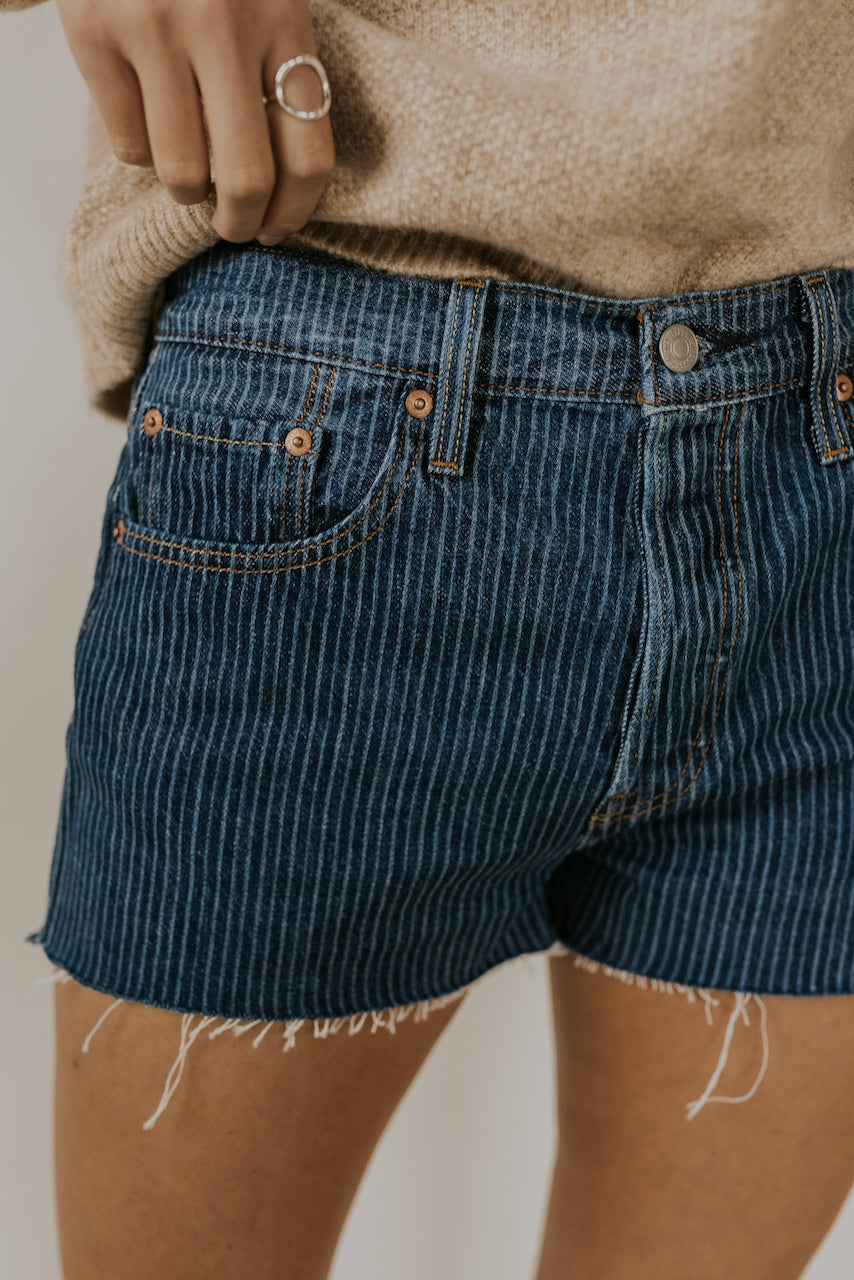 Levi's pinstripe shorts | ROOLEE