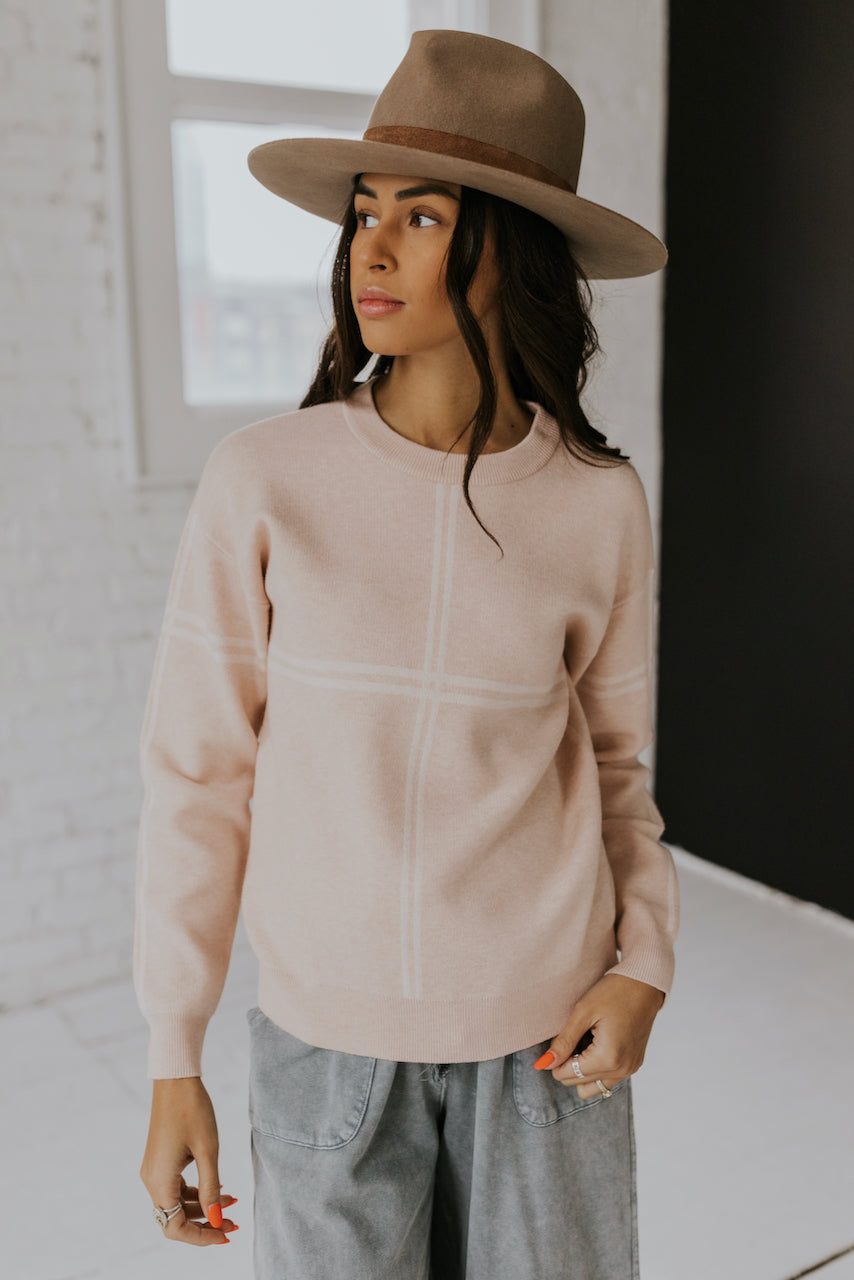 Women's Soft Pink Sweater | ROOLEE