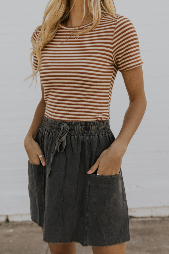 Distressed Casual Skirts | ROOLEE