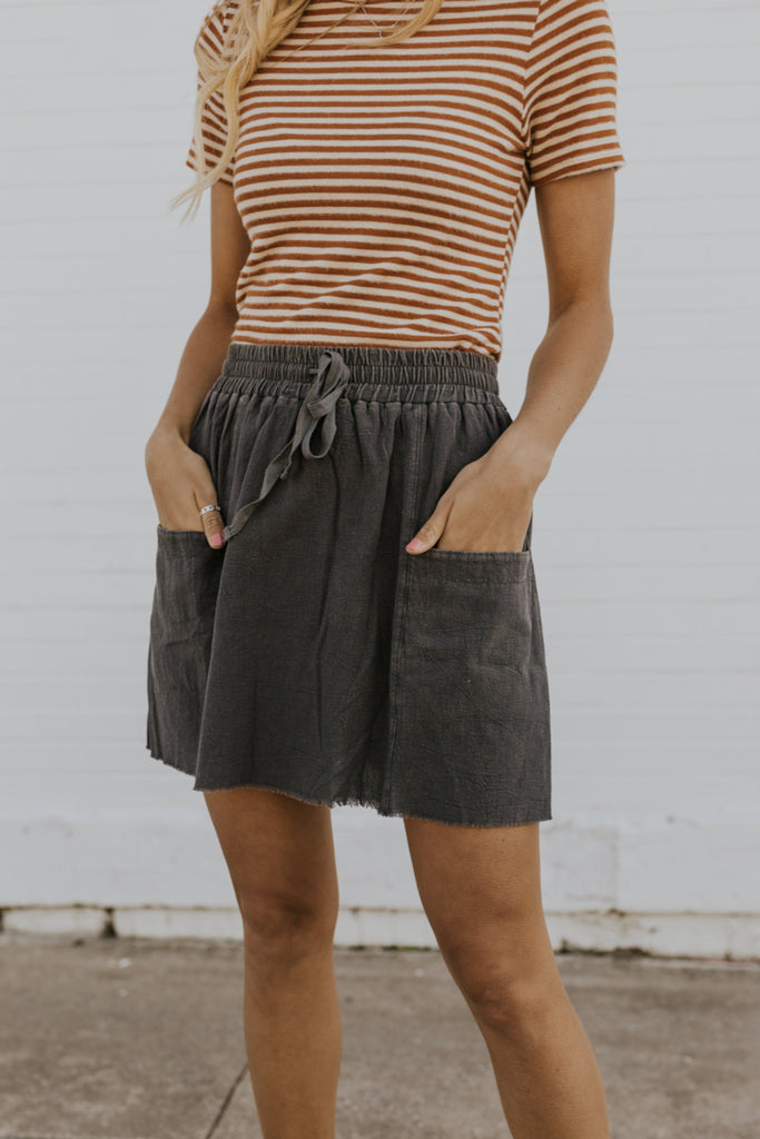 Tie waist casual skirts for Women | ROOLEE