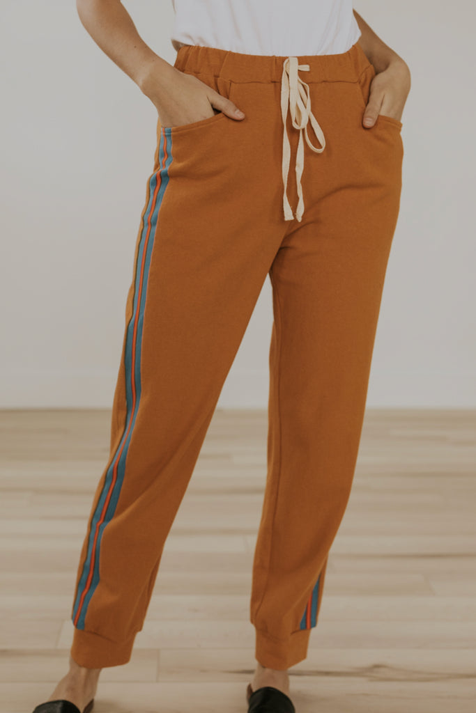 Orange loungepants for spring | ROOLEE