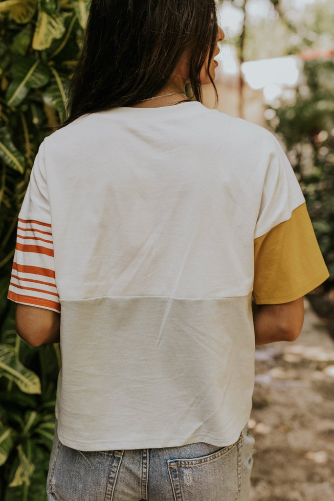 White boxy summer tee | ROOLEE