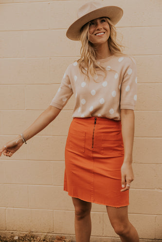 Red Summer Skirt for Women | ROOLEE