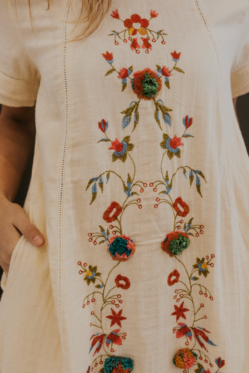 White embroidered dresses for spring | ROOLEE